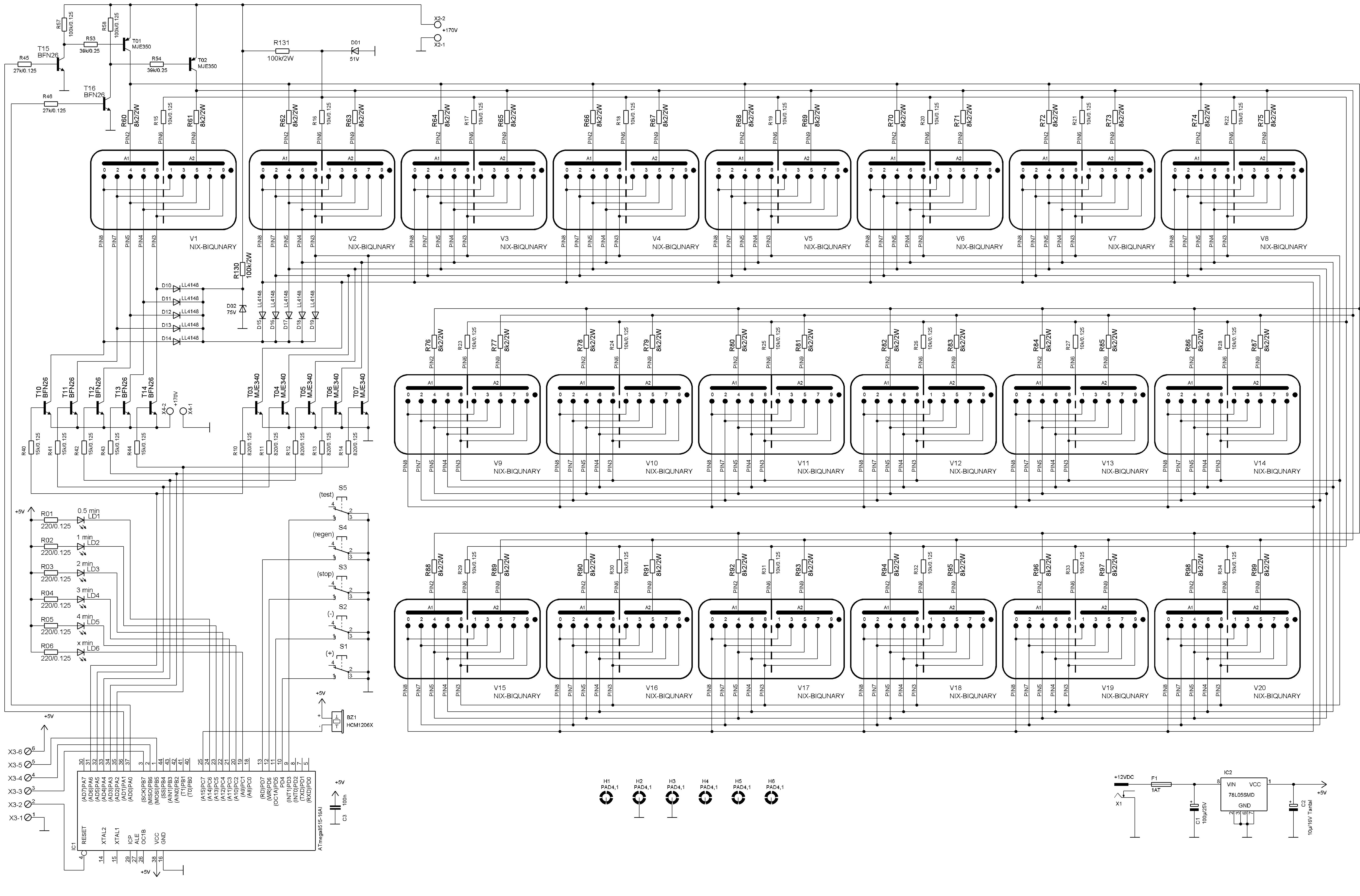 ter's ZM1030 B-5025 Nixie Tube Regenerator ZM1030 B-5025 on