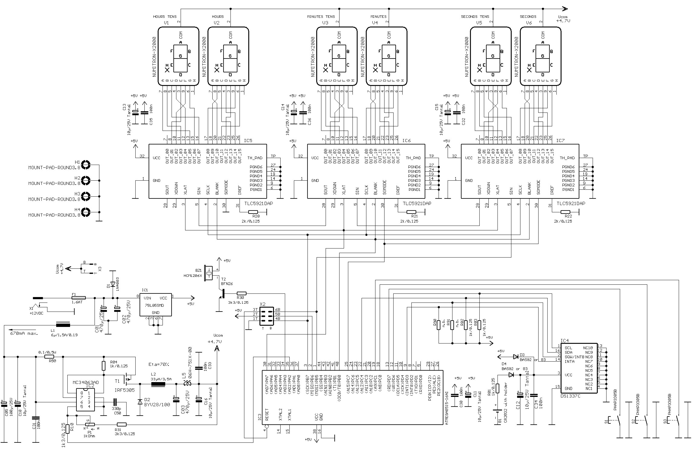 nixie tube clock schematic nixie get free image about With nixie tube clock circuit