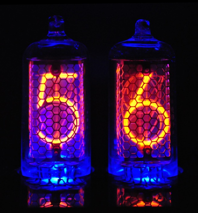 Nocrotec Shop - IN-8-2 Blue Dream Nixie Clock in Black