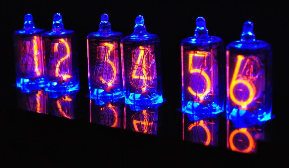 6 x b 5853 nixie r hren nixie uhr tube tubes clock f r. Black Bedroom Furniture Sets. Home Design Ideas